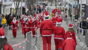 Santa Dash 2019 in progress