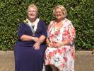 Association President Ann Acaster with District Chairman Gill Scott